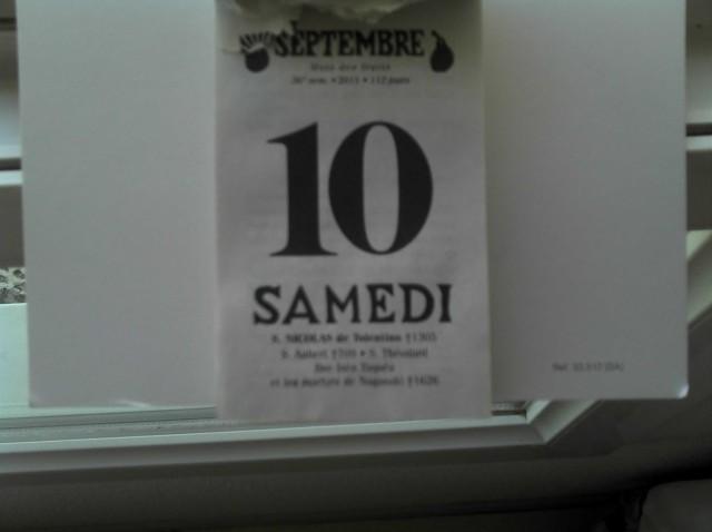 Une tutelle en France : calendrier du 10 septembre 2011